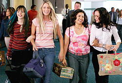 Alexis Bledel, Amber Tamblyn, America Ferrera and Blake Lively star in The Sisterhood of the Traveling Pants.
