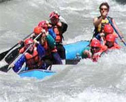 Whitewater rafting is a great way to get an adrenaline rush in the summer.