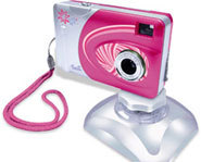 The Barbie Digital Camera can be used to take digital photos and video.
