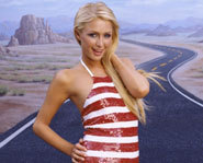 Picture of Paris Hilton, who became engaged in May, 2005.