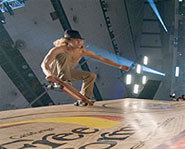 Emile Hirsch stars as skateboarder, Jay Adams, in the skateboarding movie, Lords of Dogtown.