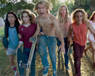 Picture of the cast of the movie, Lords of Dogtown.