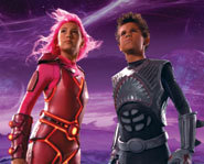 Taylor Lautner and Taylor Dooley star in the kids movie, The Adventures of Shark Boy and Lava Girl.