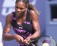 Serena Williams can serve the ball more than 100 miles per hour.