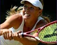 Picture of Maria Sharapova, the tennis star who will be favorite to win the 2004 US Open.