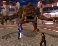 Get a video game cheat walkthrough for the Star Wars: Knights of the Old Republic video game for PC and Xbox so you can defeat the Rancor!