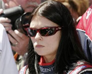 Photo of Danica Patrick racing at the 2005 Indy 500.