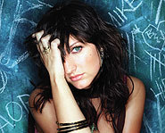 Ashlee Simpson's debut album, Autobiography, features tracks like Pieces of Me and Unreachable.