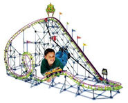 Picture of the Screamin Serpent roller coaster building kit from K'Nex.