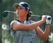 Picture of teenage golf star, Michelle Wie.