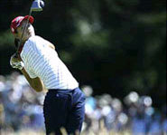 Photo of Michelle Wie, a female professional gofler who hopes to play regularly on the PGA Tour one day.