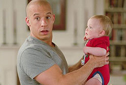 Vin Diesel stars in the Disney flick, The Pacifier.