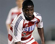 Photo of Major League Soccer star, Eddie Johnson.