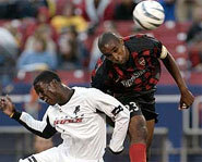 Picture of Major League Soccer star, Eddie Johnson of FC Dallas.
