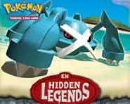 Get a game review of the Pokemon Trading Card Game EX Hidden Legends expansion set and theme decks!