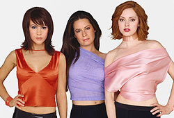 Alyssa Milano, Rose McGowan and Holly Marie Combs all star in the WB show, Charmed.