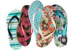 You can't hit the beach without a cool pair of flip flops.