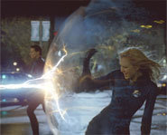Photo of Jessica Alba, playing Invisible Woman, in Fantastic Four.