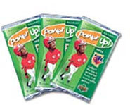 You can collect baseball cards of your favorite players and win prizes with Upper Deck's Power Up!