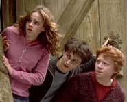 Harry Potter, Hermione  Granger and Ron Weasley return to Hogwarts School of Witchcraft and Wizardry.