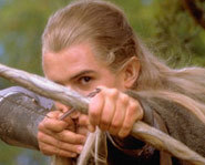 Orlando Bloom in character as Legolas Greenleaf from Lord of the Rings: The Two Towers.