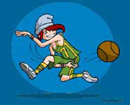 Quiz the Kidzworld Coach for advice on  basketball tips, cheerleading tryouts and other sports and fitness.