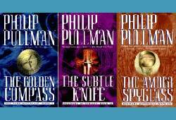The Golden Compass, The Subtle Knife and The Amber Spyglass by Phillip Pullman make up the His Dark Materials Trilogy.