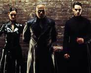 Keanu Reeves is back as Neo, The One, in The Matrix Reloaded with Morpheus and Trinity.