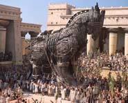 The Trojan Horse was used by the Greeks to infiltrate Troy.