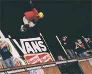 Andy Macdonald placed second in the vert skateboarding competition at the 2003 Slam City Jam.