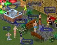 Join the massively multiplayer game, The Sims Online, and you'll be able to chat with peeps all over the world.