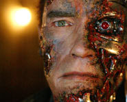 Arnold Schwarzenegger stars in Terminator 3: The Rise of the Machines along with Claire Danes.