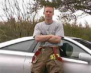 Rob Ross volunteers as a fireman in his spare time.