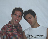 Picture of Simple Plan's Chuck Comeau (left,) Sebastian Lefebvre (right.)