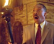 Eddie Murphy stars in the scary Disney flick Haunted Mansion.