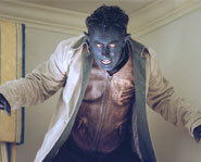 Nightcrawler is the mutant son of Mystique. Alan Cumming plays him in X2.