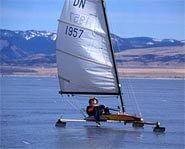 Ice sailing use boats with blades and can reach speeds of up to 100 miles per hour!