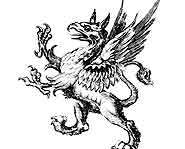 In Greek mythology only female griffins have wings.