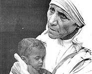 Mother Theresa is being considered for sainthood.