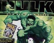 The Incredible Hulk Trading Cards will have images from the Hulk Movie and Comic books!