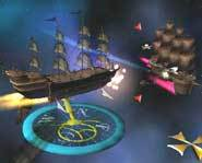 Disney's Treasure Planet: Battle at Procyon lets you command ships in space battles.
