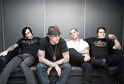 Punk-rock band Good Charlotte consists of Joel, Benji, Billy and Paul.