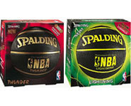 The Spalding Thunder and Lightning are durable outdoor basketballs.