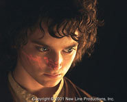 Elijah Wood stars as Frodo Baggins in The Lord of the Rings.