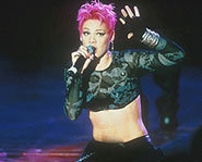 Pink in the days when she was REALLY Pink!