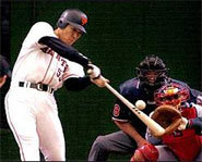 Hideki Matsui of the New York Yankees used to play with the Yomiuri Giants of the Japanese Central League.