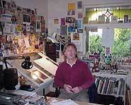 Bob in his studio.