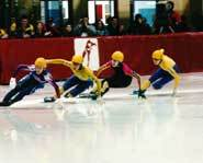 Short track speed skating.