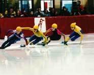 Short track speed skating.