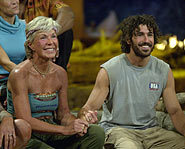 Ethan Zohn and Kim Johnson are the last two in Africa.